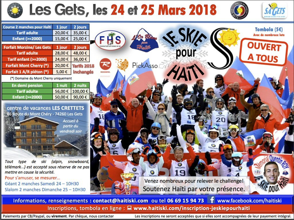 Ski for Haiti Project in Les Gets - this weekend